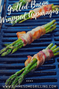Pinterest Image of Grilled Bacon Wrapped Asaparagus