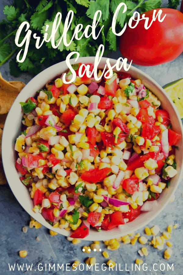 Pinterest image of Grilled Corn Salsa