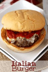 Italian burger on plate