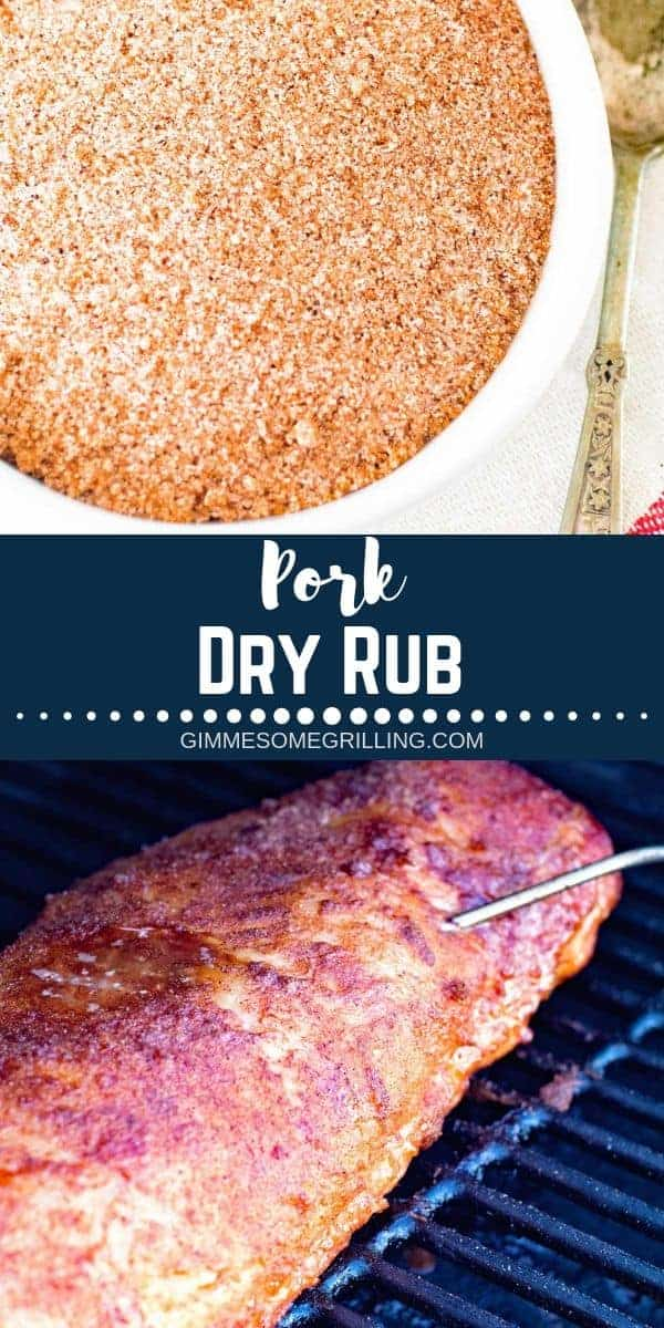 This Easy Dry Rub is Perfect for Pork Loin, Pork Chops and More When Using Your Smoker or Pellet Grill! Slightly Sweet and Amazing! Grab you pork loin, use this pork loin rub and throw it on your Traeger today. Your family will love it and it's perfect for when you have a backyard party! #traeger #dryrub via @gimmesomegrilling