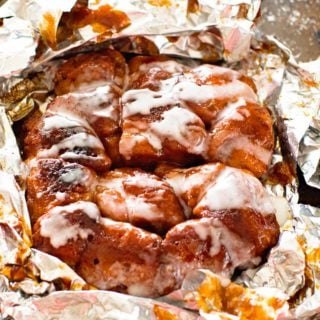 Campfire Breakfast Foil Packet open
