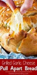 Grilled Cheesy Garlic Pull Apart Bread Pinterest Image