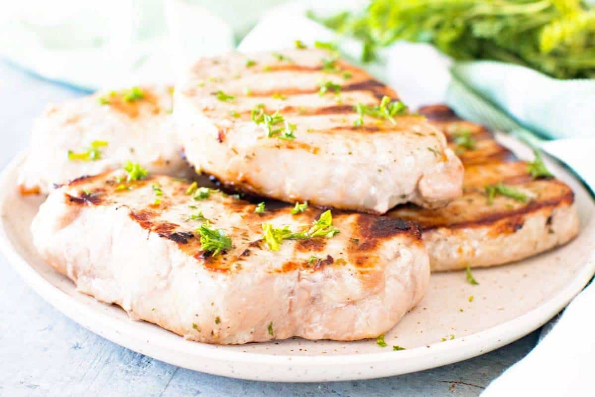 Ranch Pork Chops on the grill