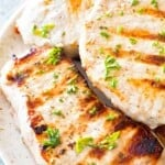 Grilled Ranch Pork Chops on plate