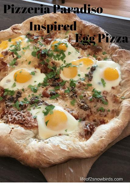 Pizzeria Paradiso Inspired Egg Pizza