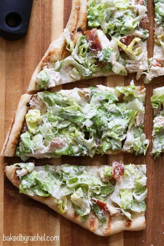Grilled Chicken Caesar Pizza