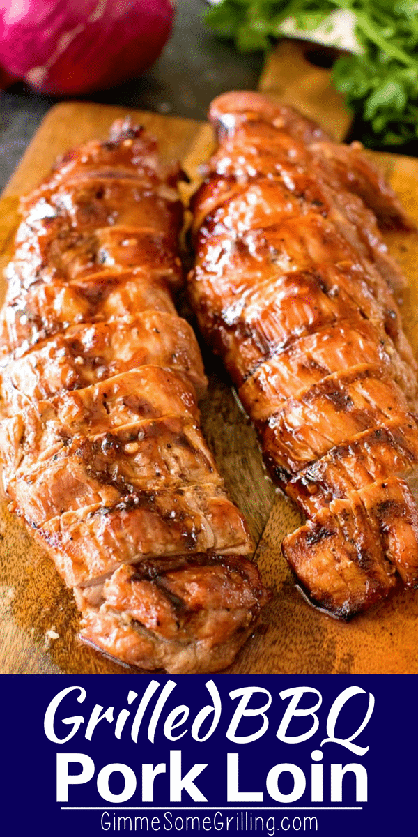 BBQ Pork Loin Pinterest Collage