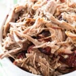 Pulled Pork in White Bowl