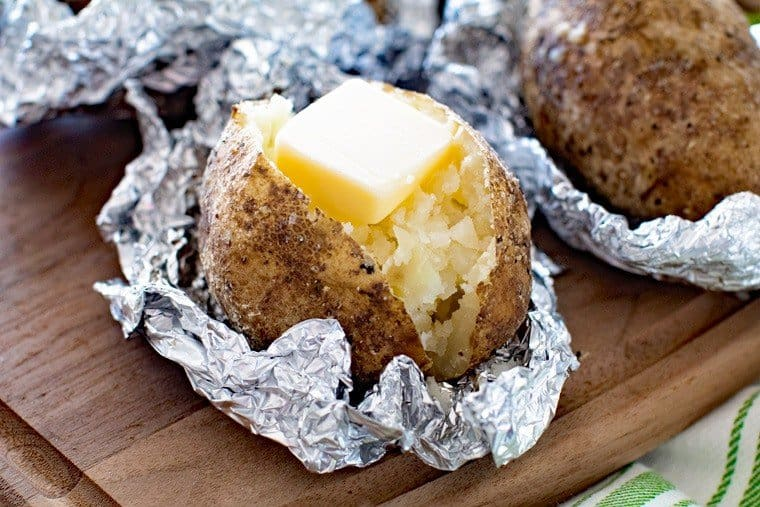 Baked Potatoes on the Grill - Gimme Some Grilling ®