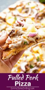 Slice of Pulled Pork Pizza
