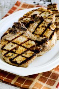 Greek grilled pork chops on plate
