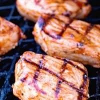BBQ Pork Chops on Grill