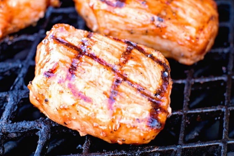 BBQ Pork Chops on Grill Grate
