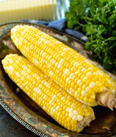 prepared grilled corn on the cob