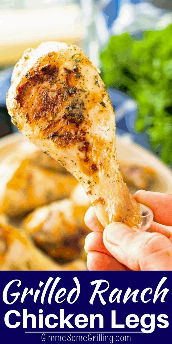 Ranch Chicken Drumsticks Pinterest Collage