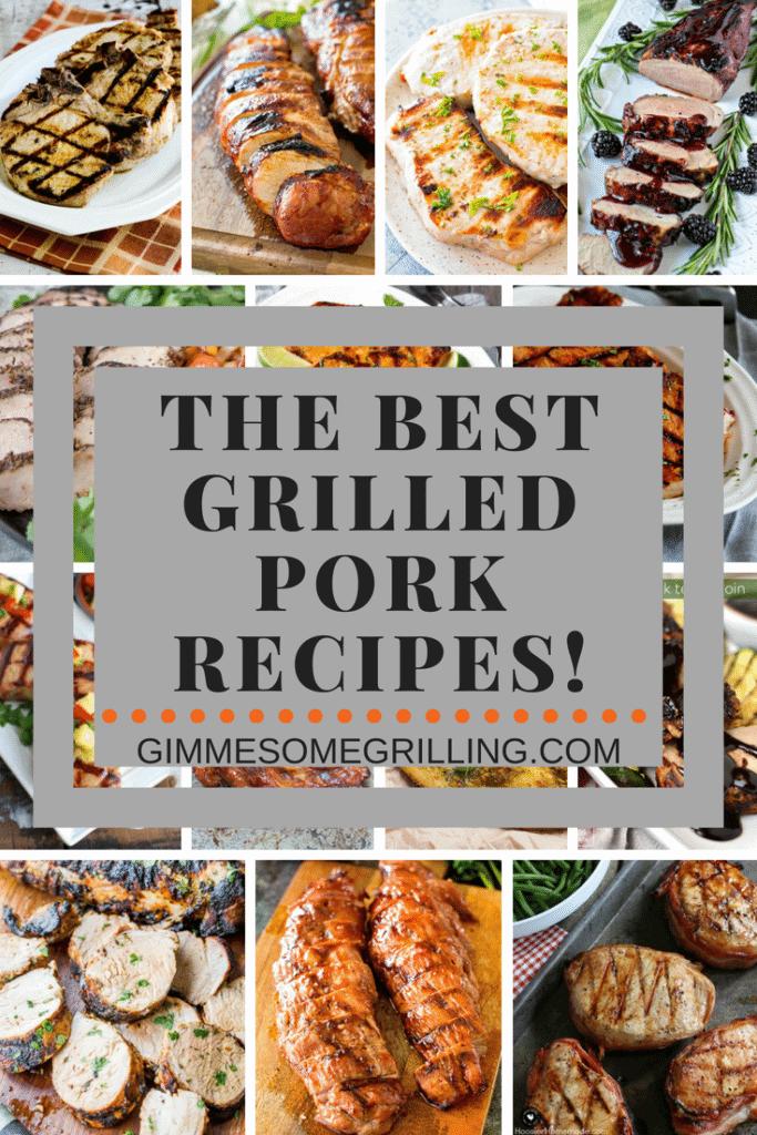 Grilled Pork Recipes Collage Pinterest Portrait