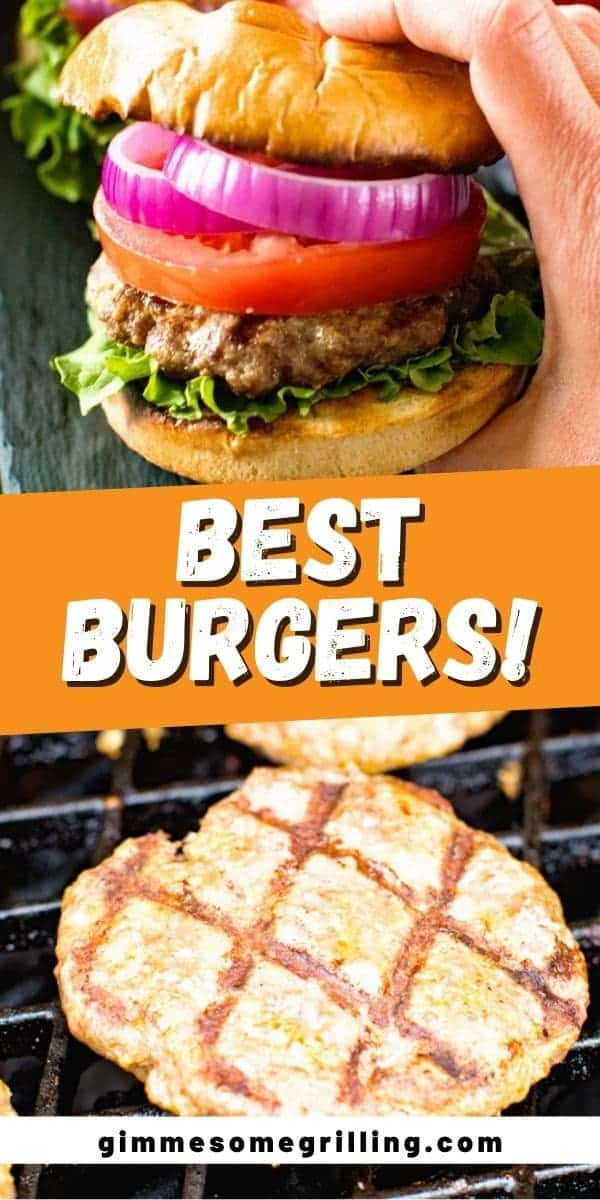 A few simple ingredients take these grilled hamburgers over the top! You will get a juicy, delicious burger that I call the BEST around. I bet you have all these ingredients in your pantry so grab them and grill yourself a burger tonight. #burger #hamburger via @gimmesomegrilling