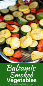 Smoked vegetables pinterest collage