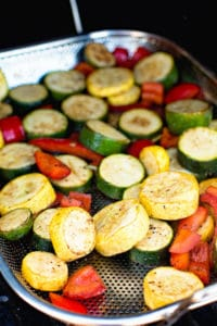 easy smoked vegetables in smoker pan