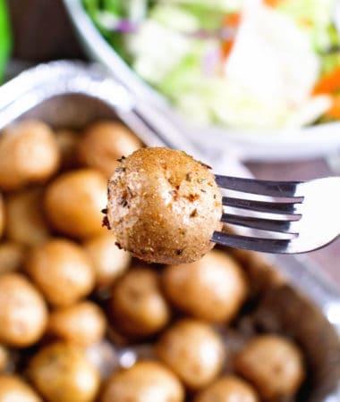 Seasoned Potatoes on Smoker