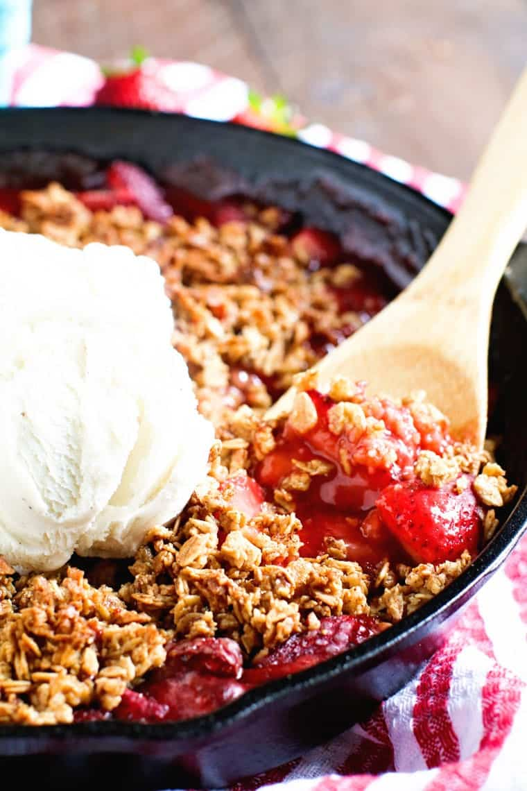 Smoked Strawberry Crisp