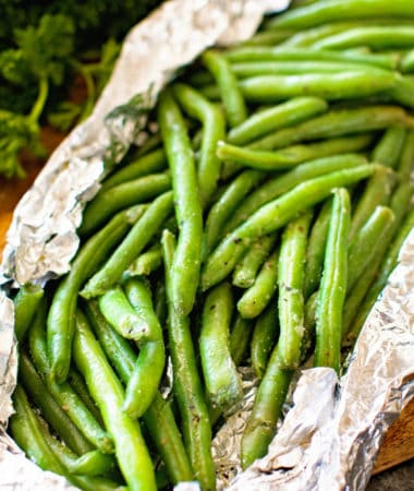 Grilled Green Beans in Foil Packet