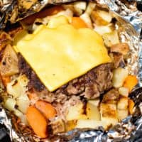 Cheeseburger Hobo Packets on Grill