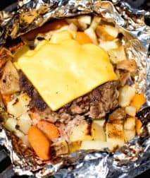 Cheeseburger Hobo Foil Packet on the Grill