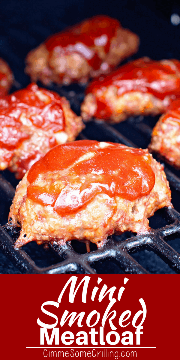 These mini meatloaves are tender, juicy and have an amazing flavor from being cooked on a smoker! This quick, easy smoker recipe for Smoked Meatloaf is going to be a new favorite for your pellet grill! #smoker #smoked #pelletgrill #traeger #meatloaf #recipe #gimmesomegrilling via @gimmesomegrilling