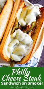 Philly Cheese Steak Sandwich Pinterest Collage