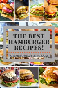 The Best Hamburger Recipes Pinterest Collage