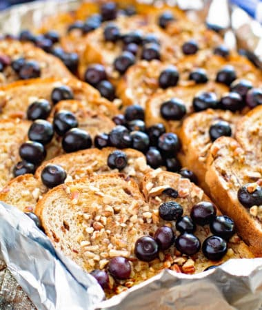 French Toast with Fresh Bluberries
