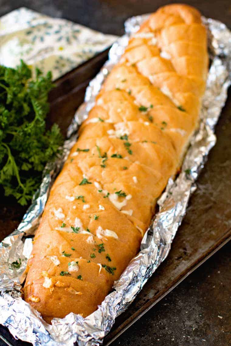 Grilled French Bread in Foil