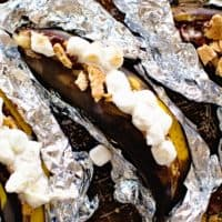 Grilled S'mores Banana Boats