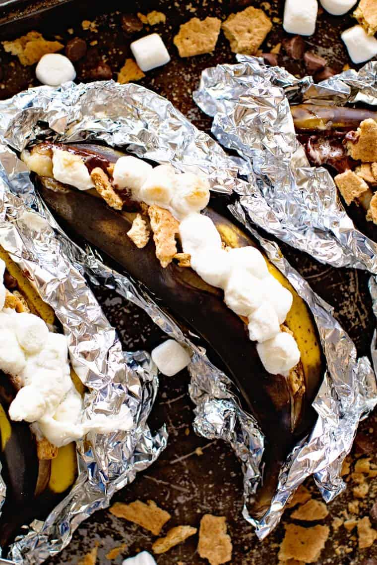 Grilled S'mores Banana Boat Recipe