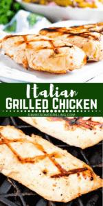 Italian Grilled Chicken Pinterest Image 1
