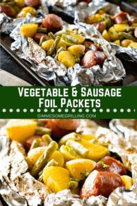 Sausage Foil Packet Pinterest Image