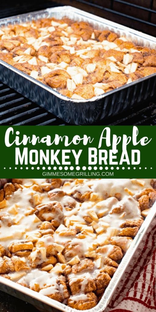 Cinnamon Apple Monkey Bread Pinterest Collage 1