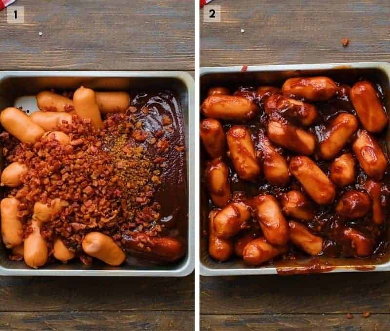 Two Image Collage to make Little Smokies