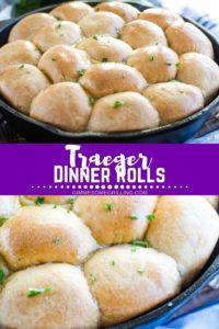 Dinners Rolls in Skillet Pinterest Image