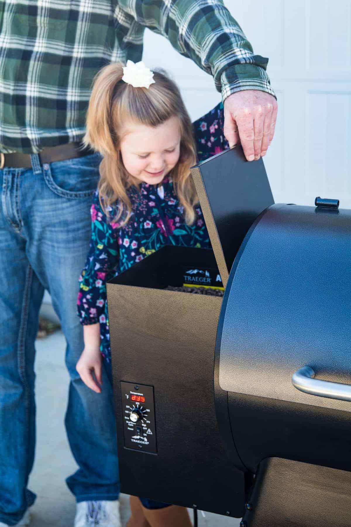 Kid Looking at smoker