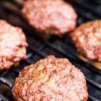 Traeger Burger on pellet grill