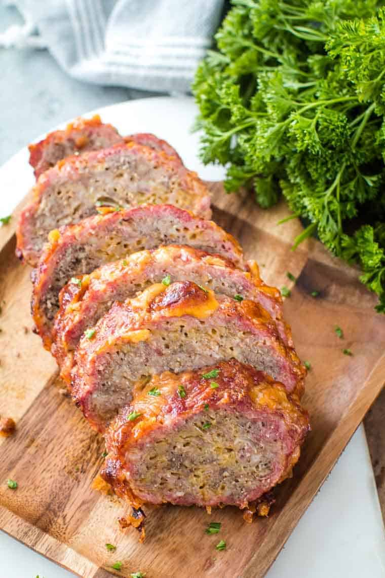 Smoked Meatloaf prepared on Traeger and sliced