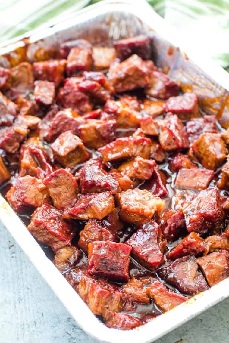 Burnt Ends in foil pan