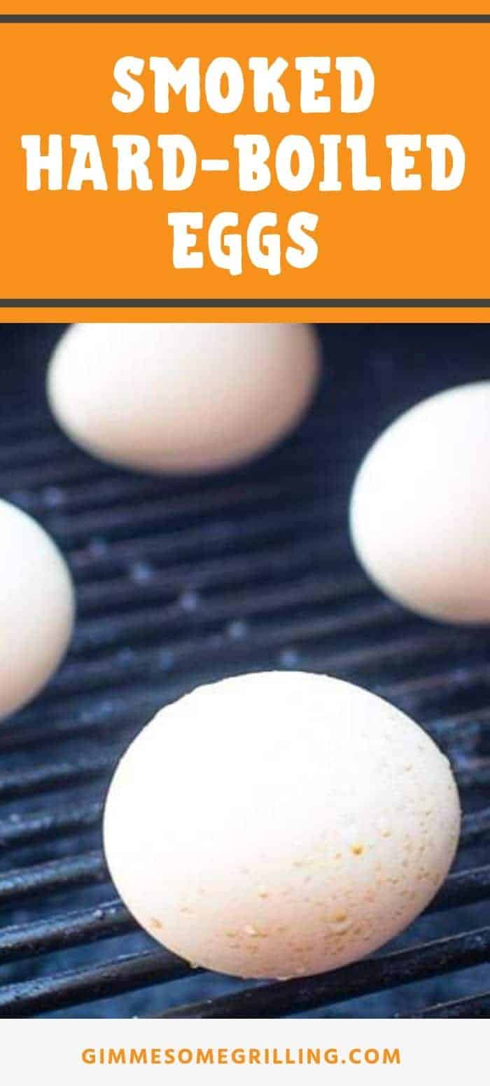 Quick and easy hard boiled eggs on your smoker! Did you know you can make Smoked Hard Boiled Eggs? They have a delicious smoked flavor perfect for salads and making into deviled eggs or enjoying plain. #smoked #eggs via @gimmesomegrilling