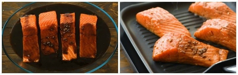 Easy Grilled Salmon Collage