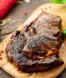 Steak prepared in the BEST Steak marinade