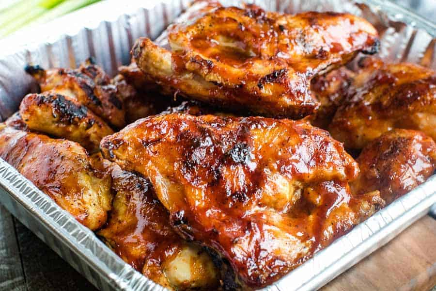 BBQ Chicken in foil pan