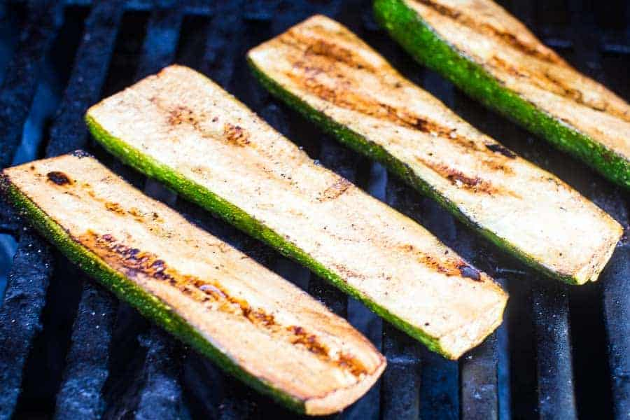 Grilled Zucchini recipe on grill