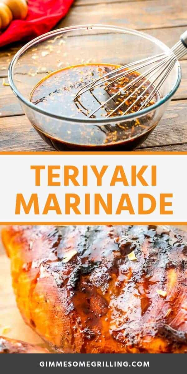 Teriyaki Marinade recipe is quick and easy. You can marinate chicken, pork, steak and more in this easy marinade recipe. Then throw it on the grill, cook it in a skillet or even bake it! It's perfect for a quick weeknight when you want to use up the meat you have! #marinade #teriyaki via @gimmesomegrilling